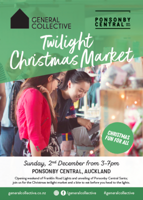 General Collective Twilight Christmas Market At Ponsonby Central